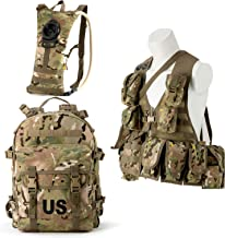 US Military Surplus Molle II Rifleman Tactical Rucksack Assault Pack,FLC Combat Vest Multicam