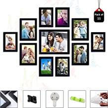 Art Street Primo Wall Photo Frame Set of 11 Black Picture Frames (Hanging Accessories Included Black_6 Unit 4X6, 4 Units 5...