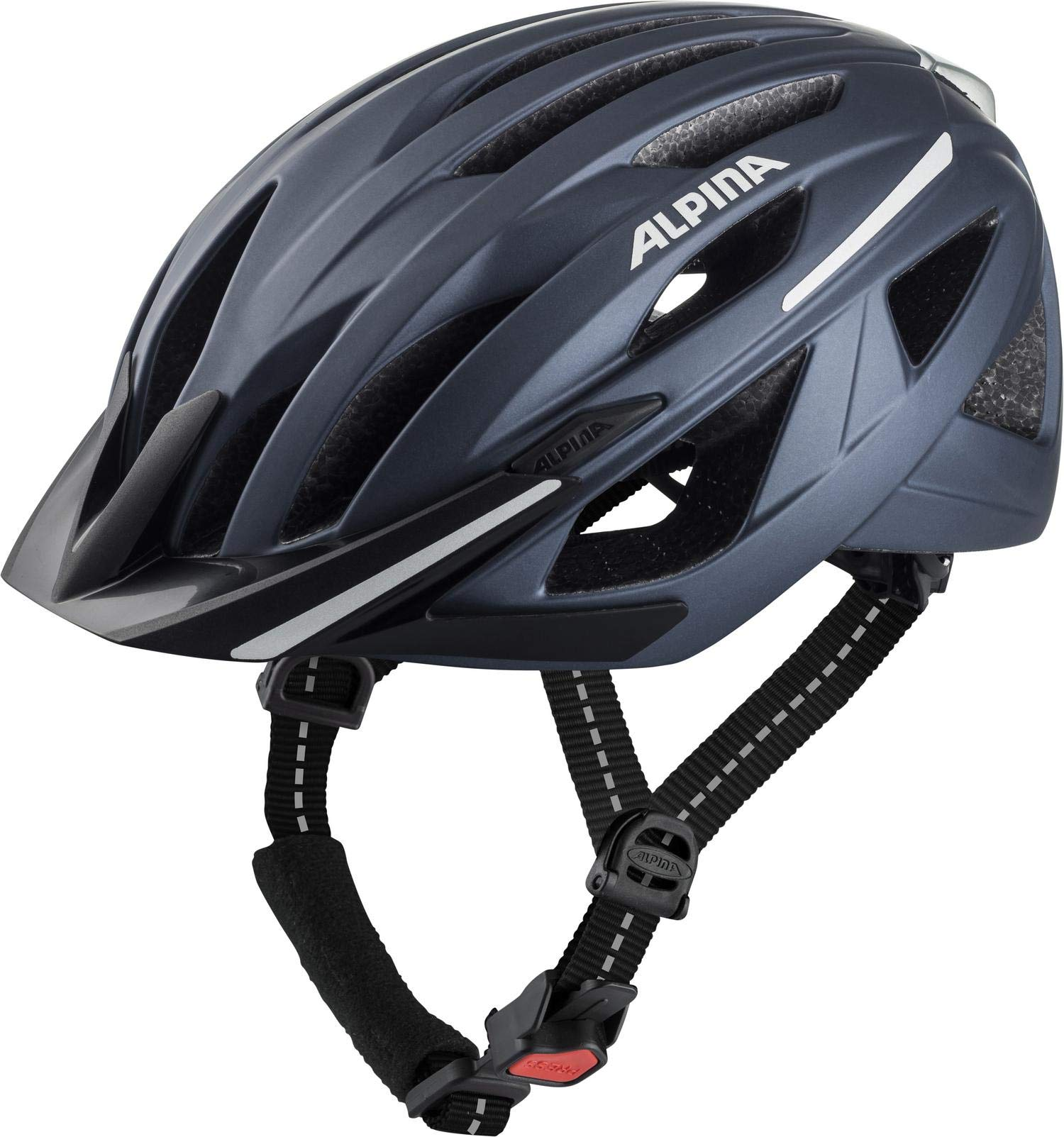 ALPINA Unisex - Erwachsene, HAGA Fahrradhelm, indigo matt, 51-56 cm