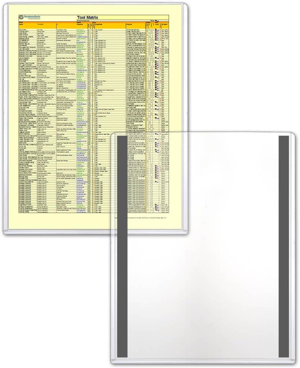 Lean // 5S // Six Sigma Magnetic Frames HPP11X17M-LEAN-5 Rigid Plastic 5-Pack StoreSMART 11 x 17 A3 Size 5-Pack