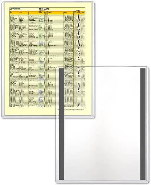 StoreSMART Magnetic Frames Rigid Plastic 5 Pack 8 1 2 X 11 Lean 5S Six Sigma HPP812X11M LEAN 5