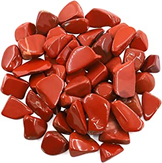 Hilitchi 1lb Bulk Large Natural Tumbled Polished Brazilian Stones Gemstone Healing Crystals Quartz for Wicca, Reiki, and Energy Crystal Healing (Red Jasper About 1lb/450g/16oz/bag)