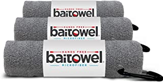 Bait Towel 3 Pack Gray   Hands Free Microfiber Fishing...
