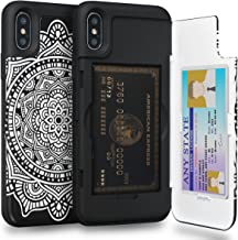 TORU CX PRO iPhone Xs Wallet Case Pattern Mandala with Hidden Credit Card Holder ID Slot Hard Cover & Mirror for Apple iPhone Xs (2018) / iPhone X (2017) - Dreamcatcher
