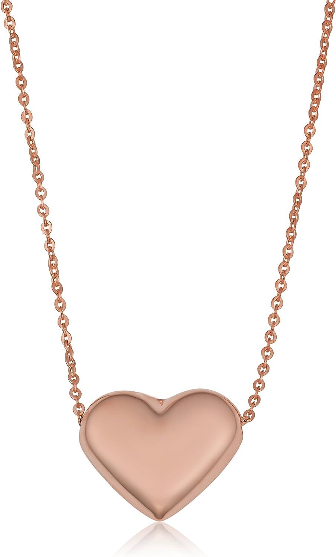 Kooljewelry 10k Gold Heart Necklace 18 inch