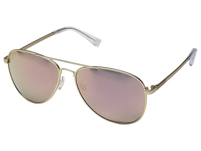 VonZipper Farva (Gold Satin/Rose Gold Chrome) Fashion Sunglasses