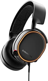 SteelSeries Arctis 5, RGB-belyst gamingheadset med DTS Headphone:X v2.0 Surround för PC och PlayStation 5/4 - svart