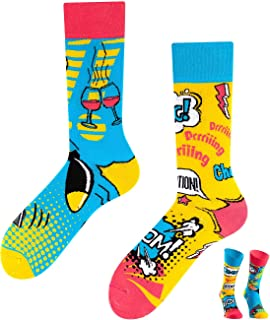 TODO COLOURS Calcetines casuales mixtos – Comic Blitz Explosion – divertidos calcetines para individualistas