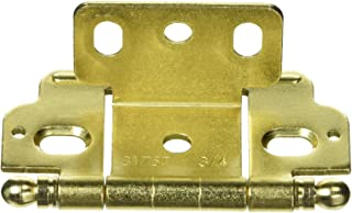 Baldwin 1090060I Ball Tip Hinge Antique Brass with Brown