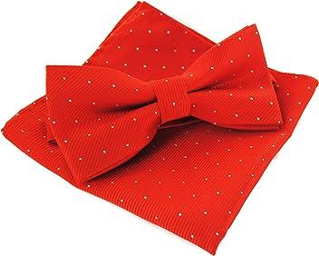 im Geschenkbox axy Einstecktuch und Fliege Set zum Anzug bereits vorgebunden