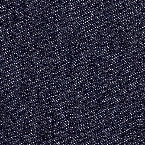 Stretch-Denim, Jeansstoff Indigoblau, dunkelblau (10 oz), Meterware per 0,5 m