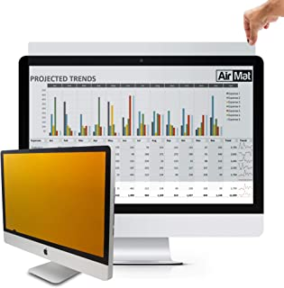 24 inch Computer Privacy Screen Filter for Widescreen Computer Monitor - 16:9 Aspect Ratio - Premium Gold - Reversible Anti-Glare Protector - Privacy for Data Confidentiality by AirMat