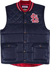 Mitchell & Ness Mens Snap Fishing/Hunting Vest Jacket, MLB Rain Jacket