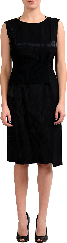 Maison Margiela 1 Wool Black Sleeveless Women's Sheath Dress US M IT 42