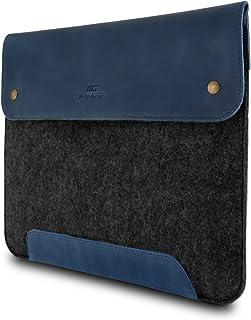 MegaGear Bärbart läder och fleece bärbar dator, Ultrabook och Macbook väska 13,3 tum