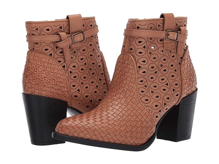 Be Famous  Shoes (Tan) Women's Zip Boots