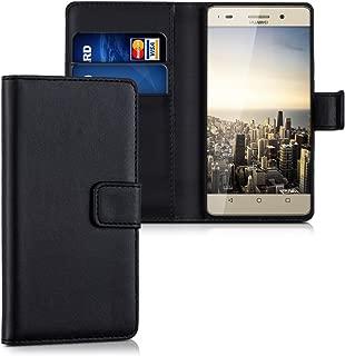 kwmobile Funda para Huawei G Play Mini - Carcasa de Cuero sintético - Case con Tapa y Tarjetero en Negro