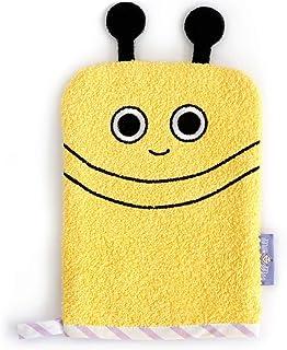 Milk&Moo Baby Bath Glove, 100% Cotton Oeko-Tex certificated Baby Sponge for Bathing (Yellow)