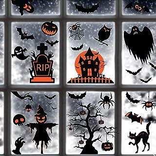 TMCCE 60PCs Halloween Decorations Halloween Window Clings Decals For Halloween Supplies Happy Halloween Wall Decal Good Ha...