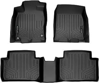SMARTLINER Custom Fit Floor Mats 2 Row Liner Set Black for 2016-2020 Honda Civic Sedan or Hatchback