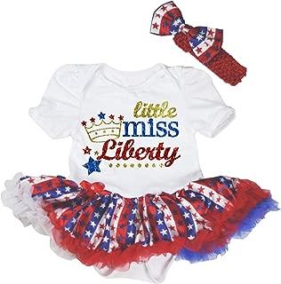 Petitebella 4th July Dress Little Miss USA Black Shirt Striped Star Skirts 3-12m