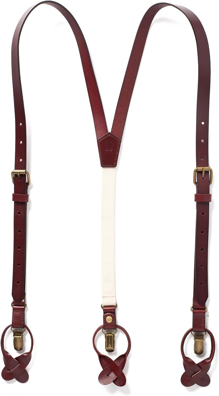 Leather Suspenders,Elegant Suspenders,Black Suspenders,Stitched Suspenders,Mens Suspenders,Leather Braces,Groomsmen  Gift Suspenders