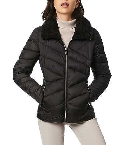 Bernardo Fashions Puffer Jacket with Faux Fur Collar