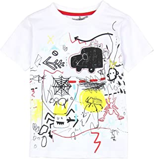 Loose T Shirt,White Polar Bear on Ice Fashion Personality Customization