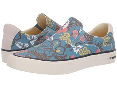 SeaVees Hawthorne Slip-On Beachcomber (Blue Hibiscus) Men