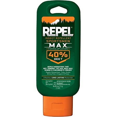 Repel Insect Repellent Sportsmen Max Formula Lotion 40% DEET, 4-Ounce