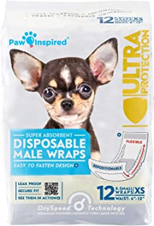 Paw Inspired Ultra Protection Disposable Male Wraps (Belly Bands)