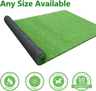 GL Artificial Grass Mats Lawn Carpet Customized Sizes, Synthetic Rug Indoor Outdoor Landscape, Fake Faux Turf for Decor 6FTX10FT(60 Square FT)