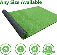 GL Artificial Turf Grass Lawn 5 FT x8 FT, Realistic Synthetic Grass Mat, Indoor Outdoor Garden Lawn Landscape for Pets,Fake Faux Grass Rug with Drainage Holes