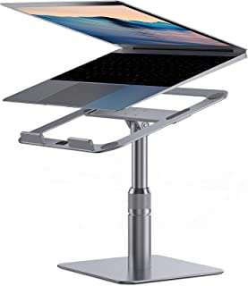 """Laptop Stand, Almoz Swivel Laptop Riser Stand for Desk, 360-Rotating Laptop Stand Adjustable Height 6-9"""", Aluminum Compute..."""