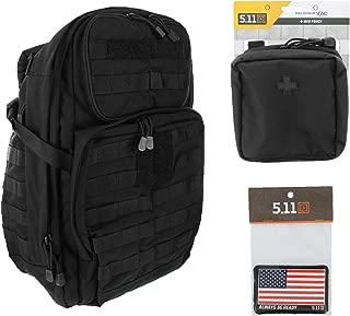 5.11 RUSH24 Tactical Backpack Med First Aid Patriot Bundle - Black