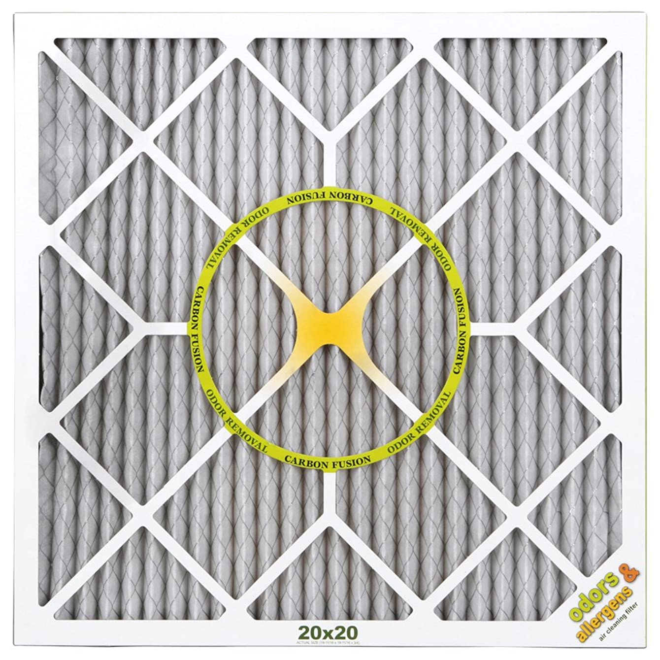 BestAir PF2020-1 Air Cleaning Furnace Filter, MERV 11, Carbon Infused to Neutralize Odor, For 1