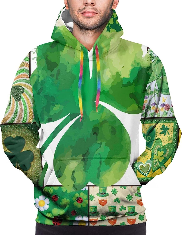 Hoodie For Men Women Unisex Happy Saint Patrick Day Clovers Double-Sided 3d Sweatshirt Hoodie