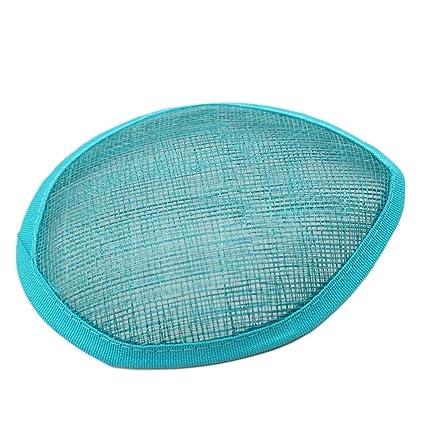 Light Blue Satin Teardrop Fascinator Hat Base with Hair Clips 6 x 4 12