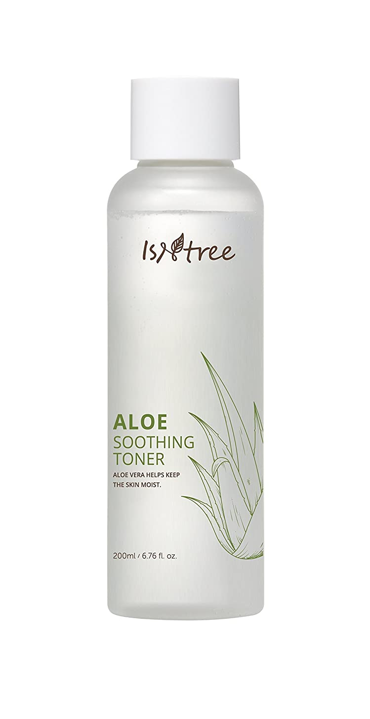 ISNTREE Aloe Vera Soothing Facial Toner for Dry and Sensitive Skin 200ml, 6.76 fl. oz. Natural Moisturizer | Deep Moisturizing | Hypoallergenic |
