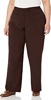 RUBY RD. Women's Plus-Size Flat Front Easy Stretch Pant