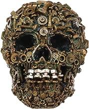 Ebros Steampunk Junkyard Mechanic Gears Nuts Bolts and Screws Hardware Skull Decorative Figurine 7