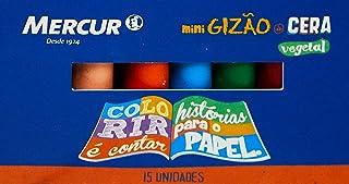 Lápis de Cera, Mercur B01010104002, Multicor, Pacote de 12