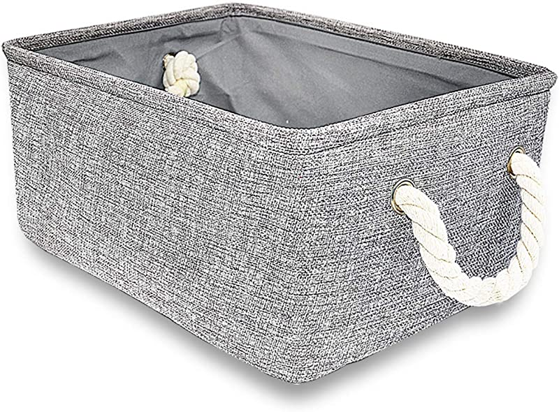 Silanto Grey Storage Baskets For Shelves Fabric Organizer Baskets For Gift Empty 16 5 X 12 4 X 6 5 Inch