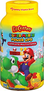 Sponsored Ad - L'il Critters Super Mario Brothers Complete Multivitamin Gummies, 190 Count