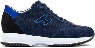 Hogan Sneaker Uomo Interactive Blu in Suede e Tessuto - HXM00N0Q101 PDU647N - Taglia