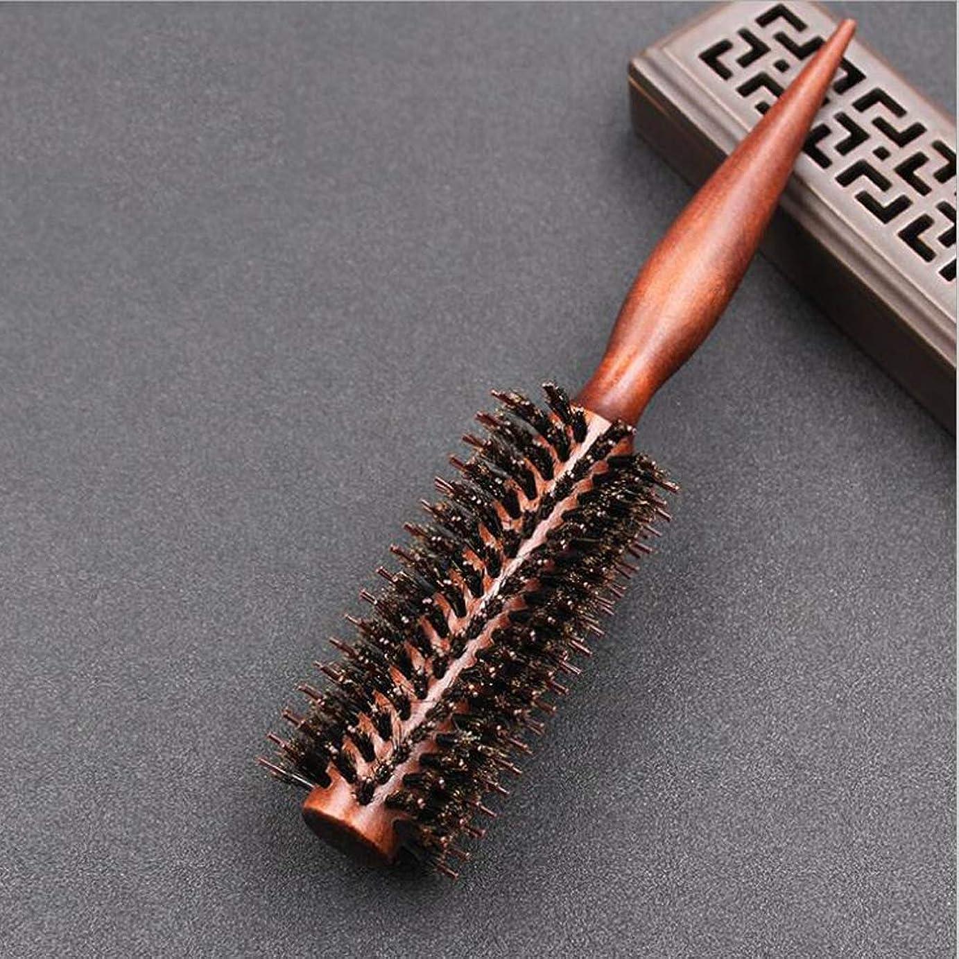 ベッドソースページ豚毛ヘアブラシロールブラシ 耐熱仕様 髪をつやつやするファッションヘアブラシ新型タイプヘアブラシ (116)
