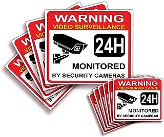 Video Surveillance Warning Sign Sticker - Decal, 10x Pack, (4)7