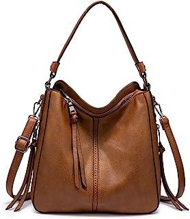 3720ece92f86 Amazon.com: Faux Leather - Hobo Bags / Handbags & Wallets: Clothing ...