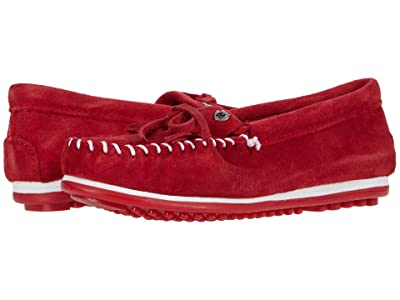 Minnetonka Kilty Plus (Red Suede) Women