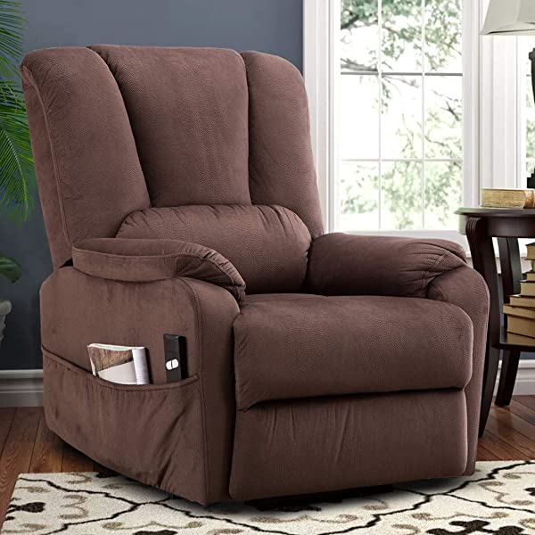 CANMOV 电动升降躺椅适合老年人重型和安全运动躺椅防滑织物沙发客厅椅子